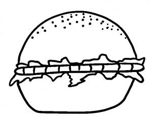 דף צביעה המבורגר