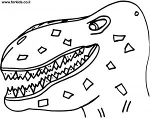 ראש דינוזאור לצביעה