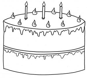דף צביעה עוגה