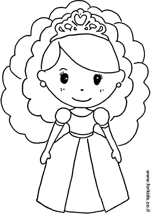 נסיכה עם כתר לצביעה