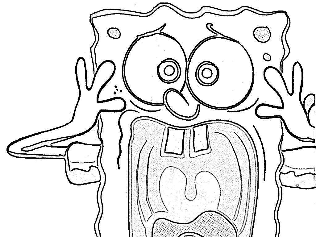 hood spongebob coloring pages - photo#10
