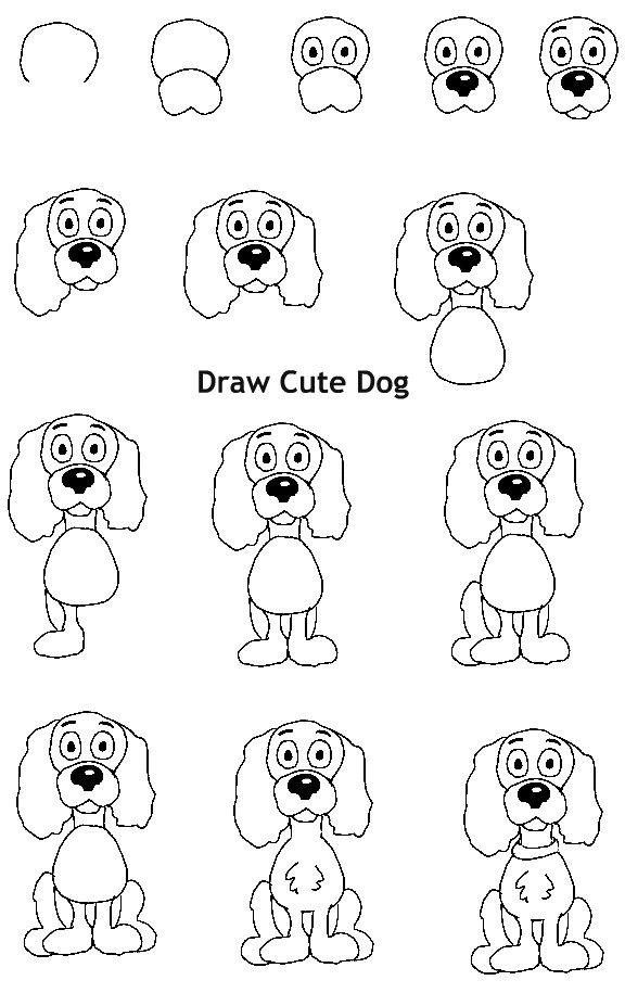 איך לצייר כלב