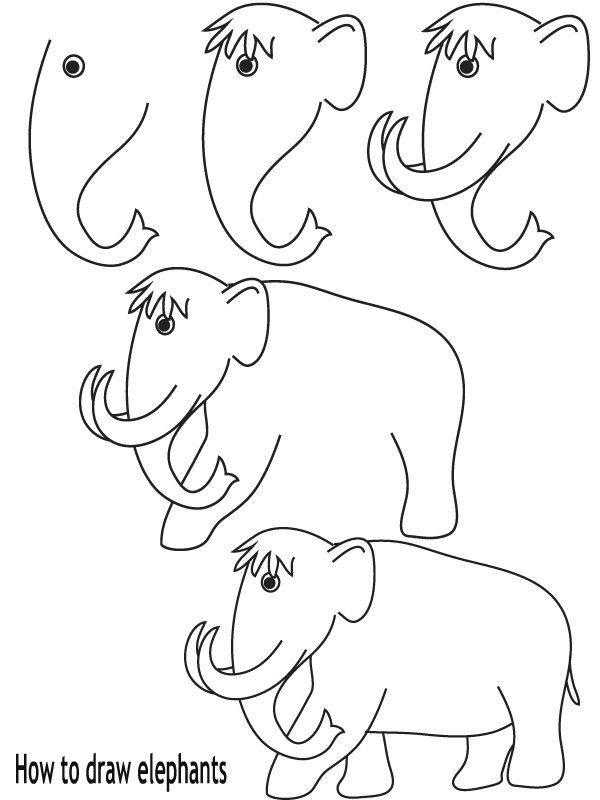 איך לצייר פילים
