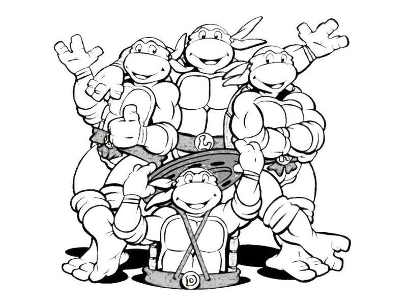 ארבעה צבי נינג'ה לצביעה