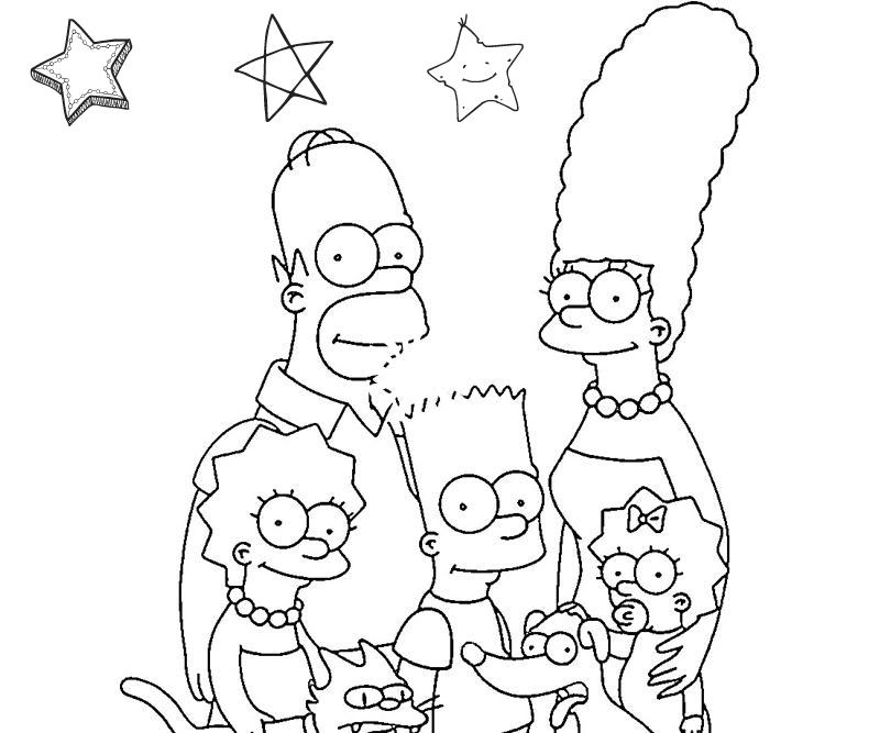 משפחת סימפסון לצביעה