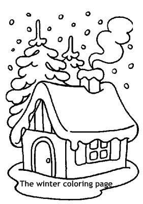 בית בחורף- דף צביעה