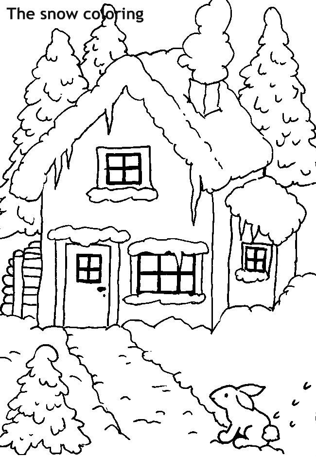 בית בשלג לצביעה