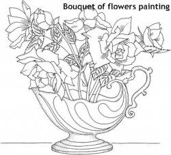 זר פרחים לצביעה