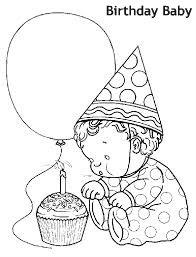 יום הולדת לתינוק דף צביעה