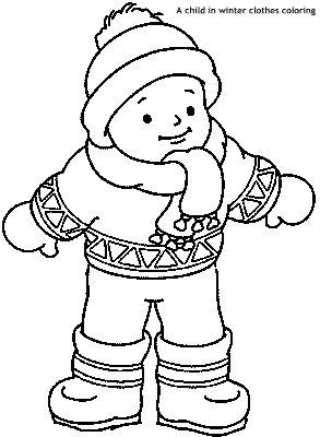 ילד בבגדי-חורף לצביעה