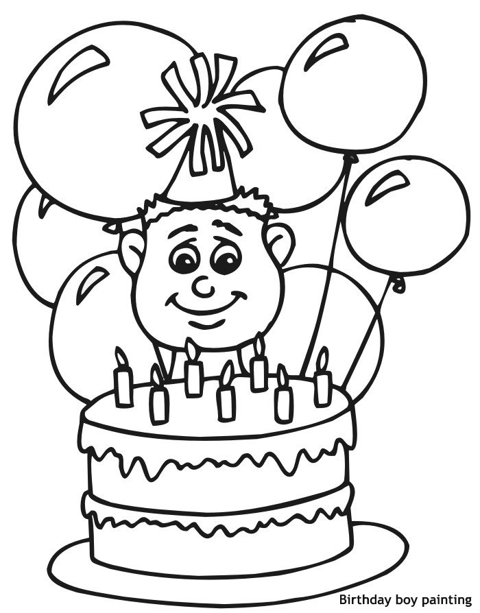 ילד יום הולדת לצביעה