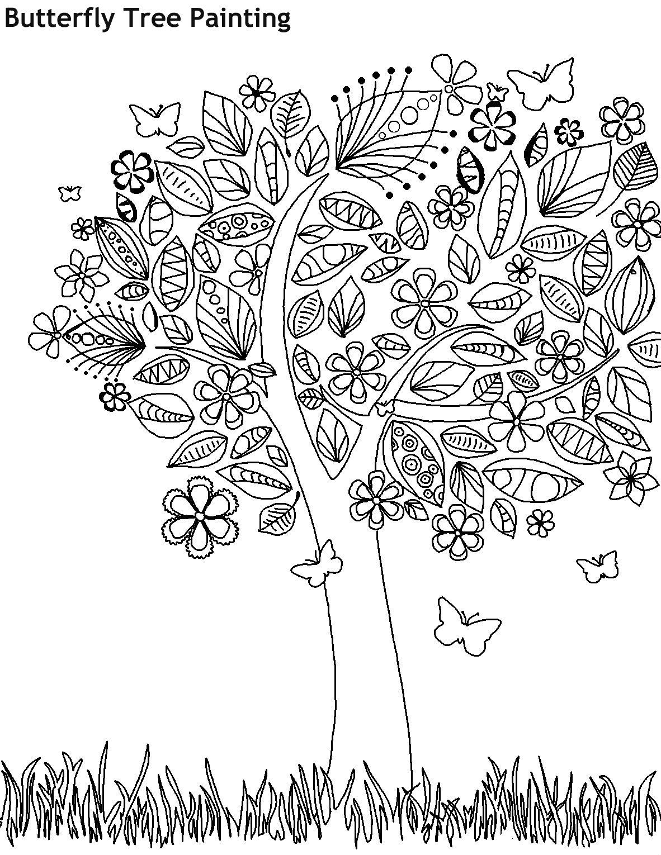 עץ הפרפרים לצביעה