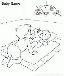 תינוק משחק דף צביעה