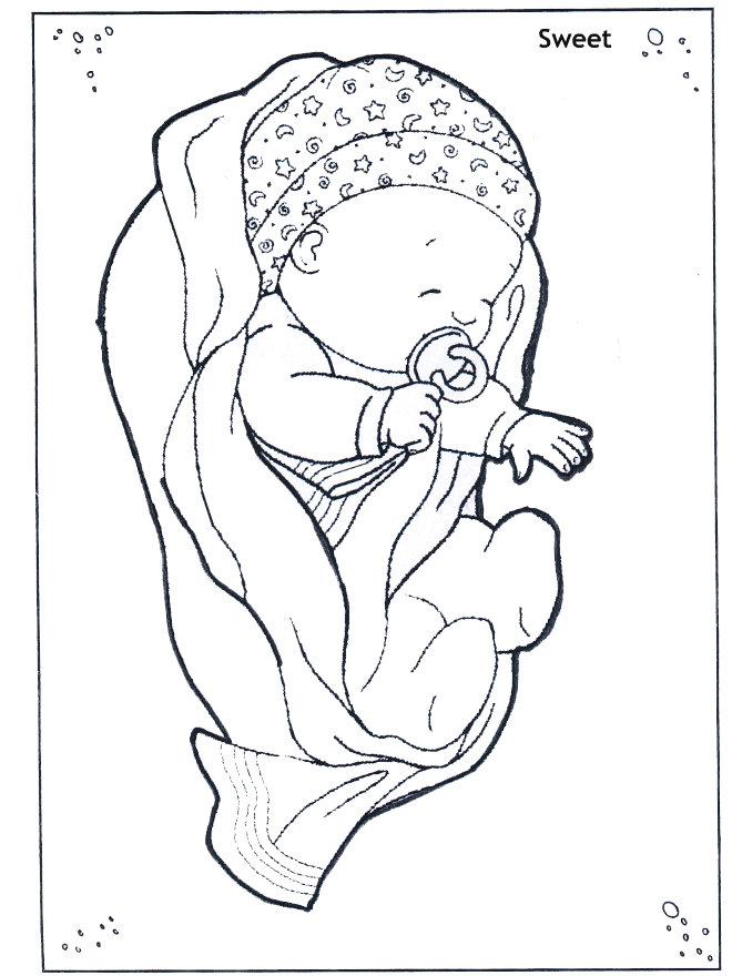 תינוק מתוק דף צביעה