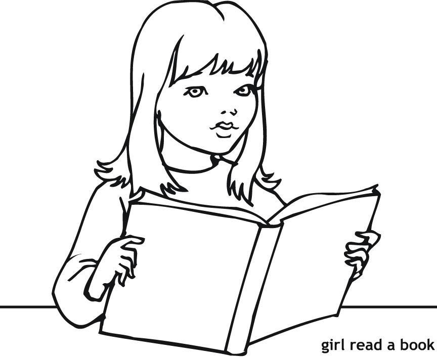ילדה קוראת ספר לצביעה